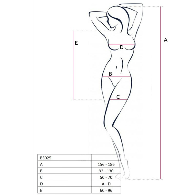 PASSION WOMAN BS025 BODYSTOCKING ESTILO VESTIDO BLANCO TALLA UNICA